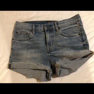 Gap jean high waisted shorts